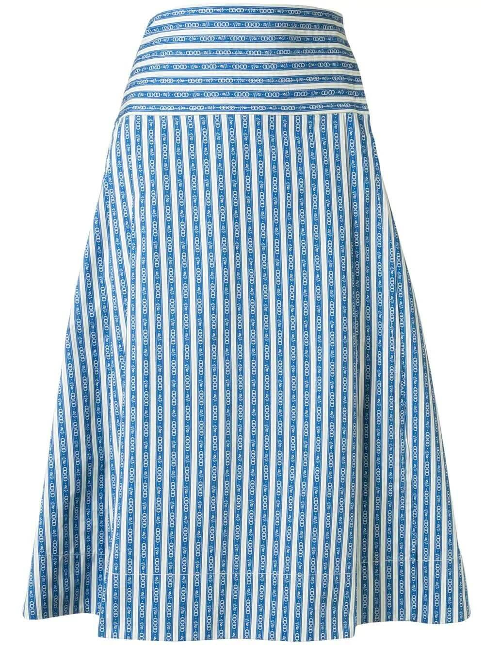 Gemini Link Striped Wrap Skirt