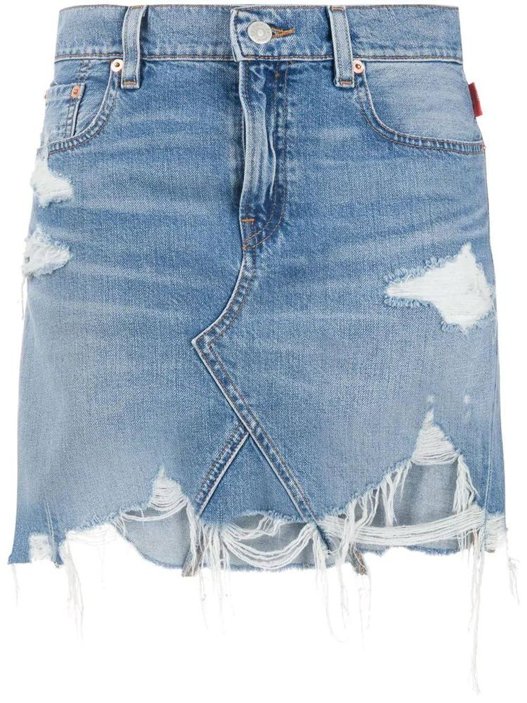 Page Distressed Mini Jean Skirt Item # 3100