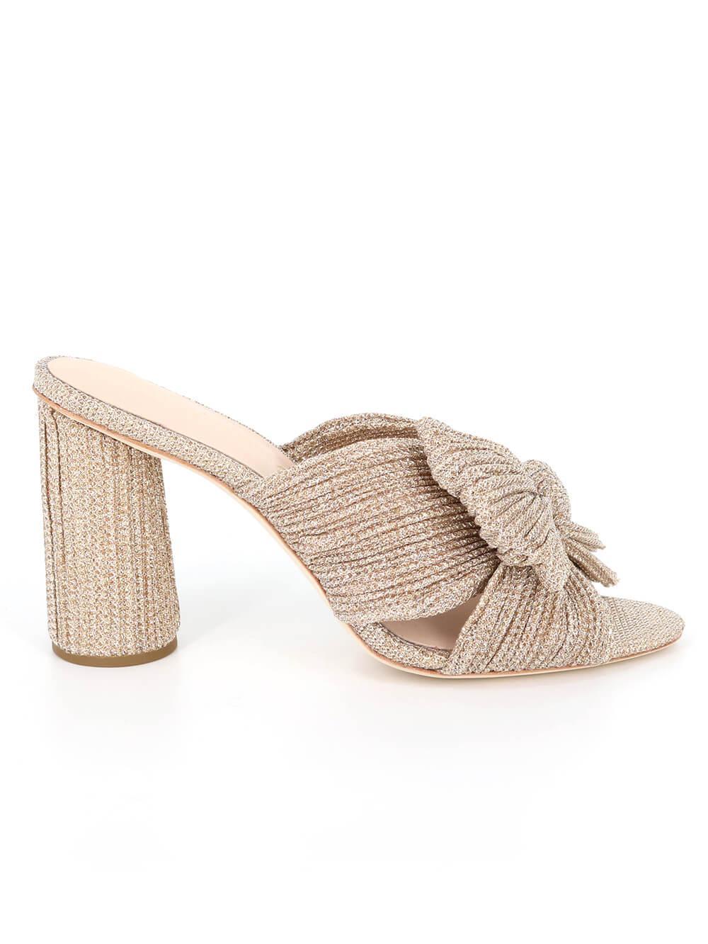 Penny Glitter Knot Mule