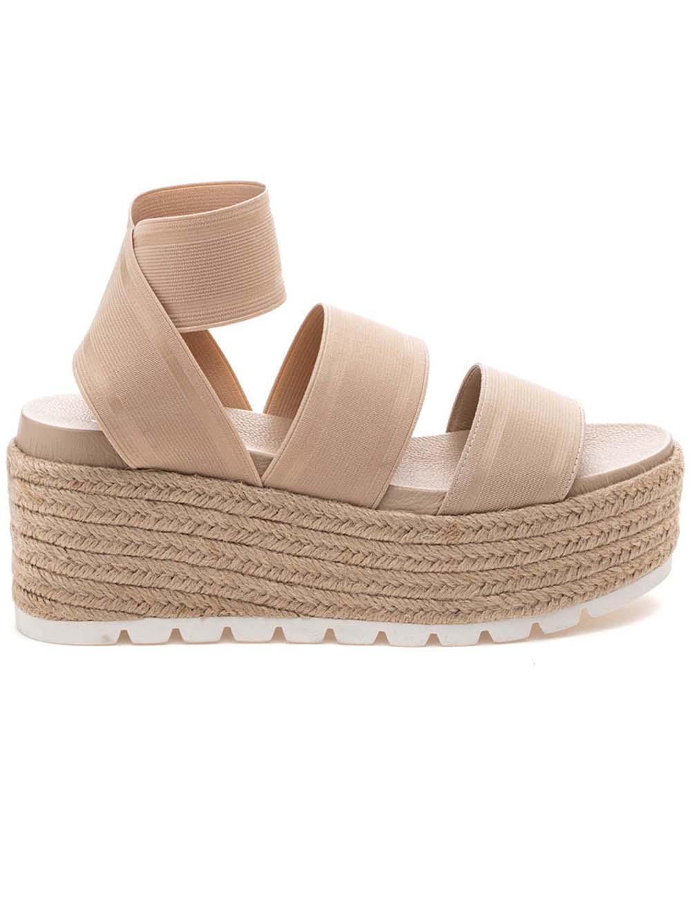 Quartz Platform Strappy Sandal Item # QUARTZ