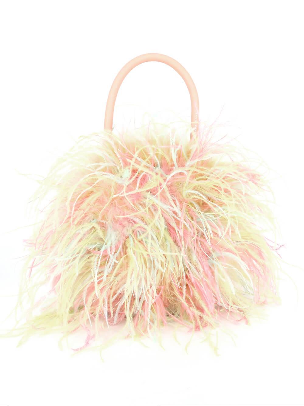 Zadie Feather Circle Bag