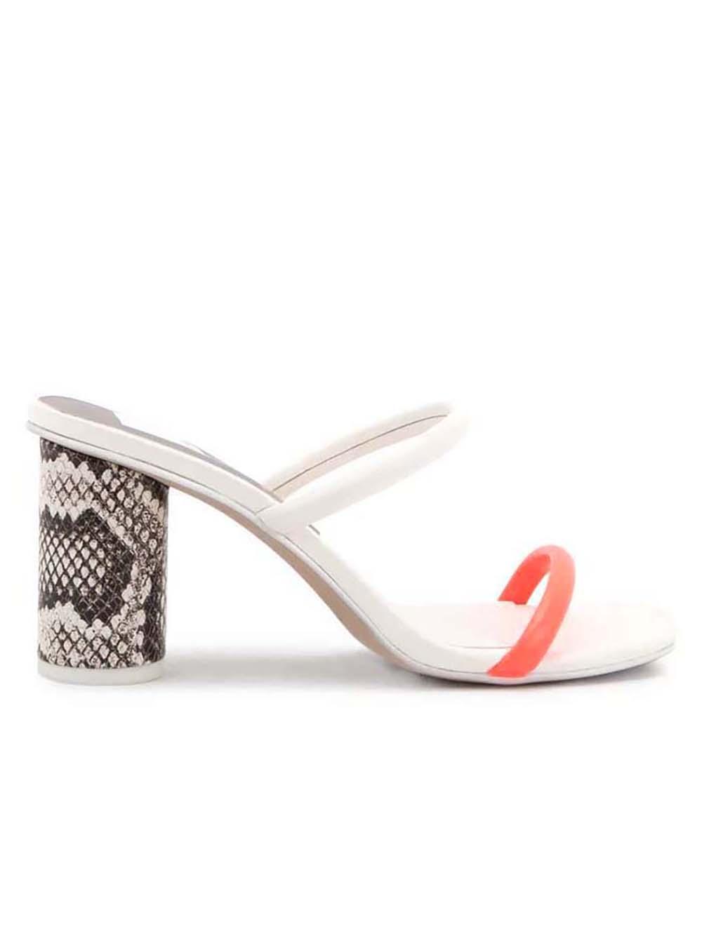 Noles Snake Print Heel Sandal