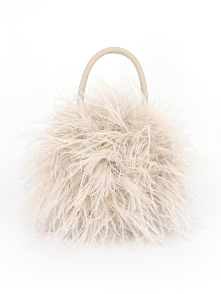 Zadie Feather Circle Bag