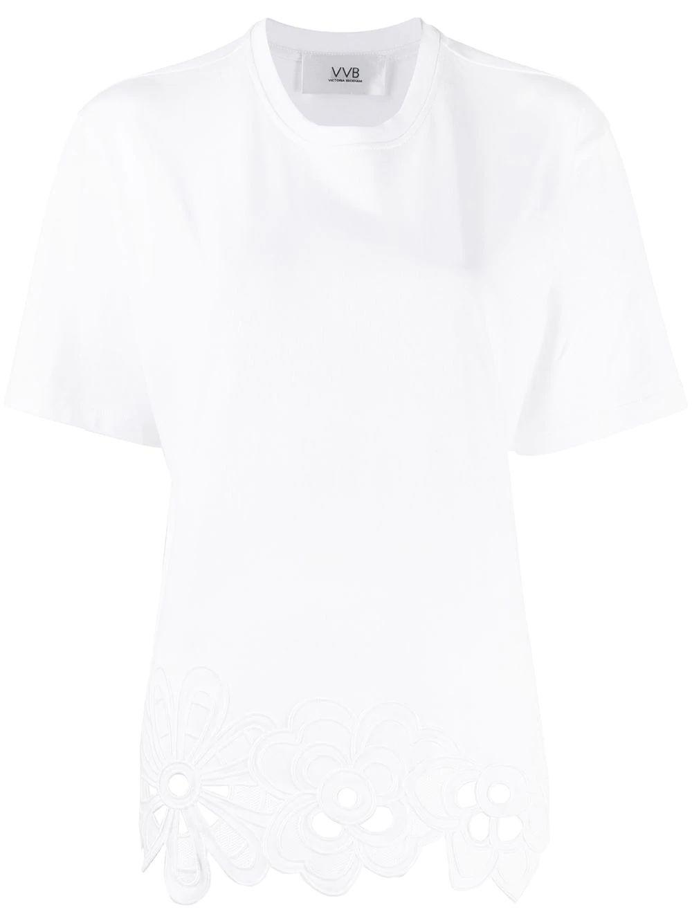 Embroidered Hem T-Shirt