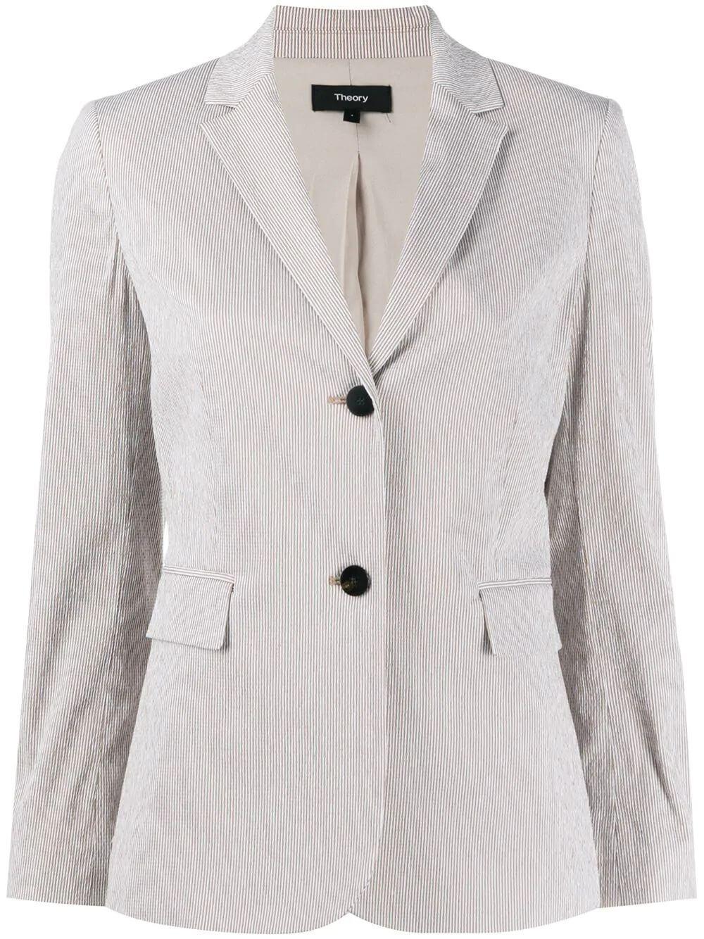 Classic Shrunken Seersucker Jacket Item # K0204111