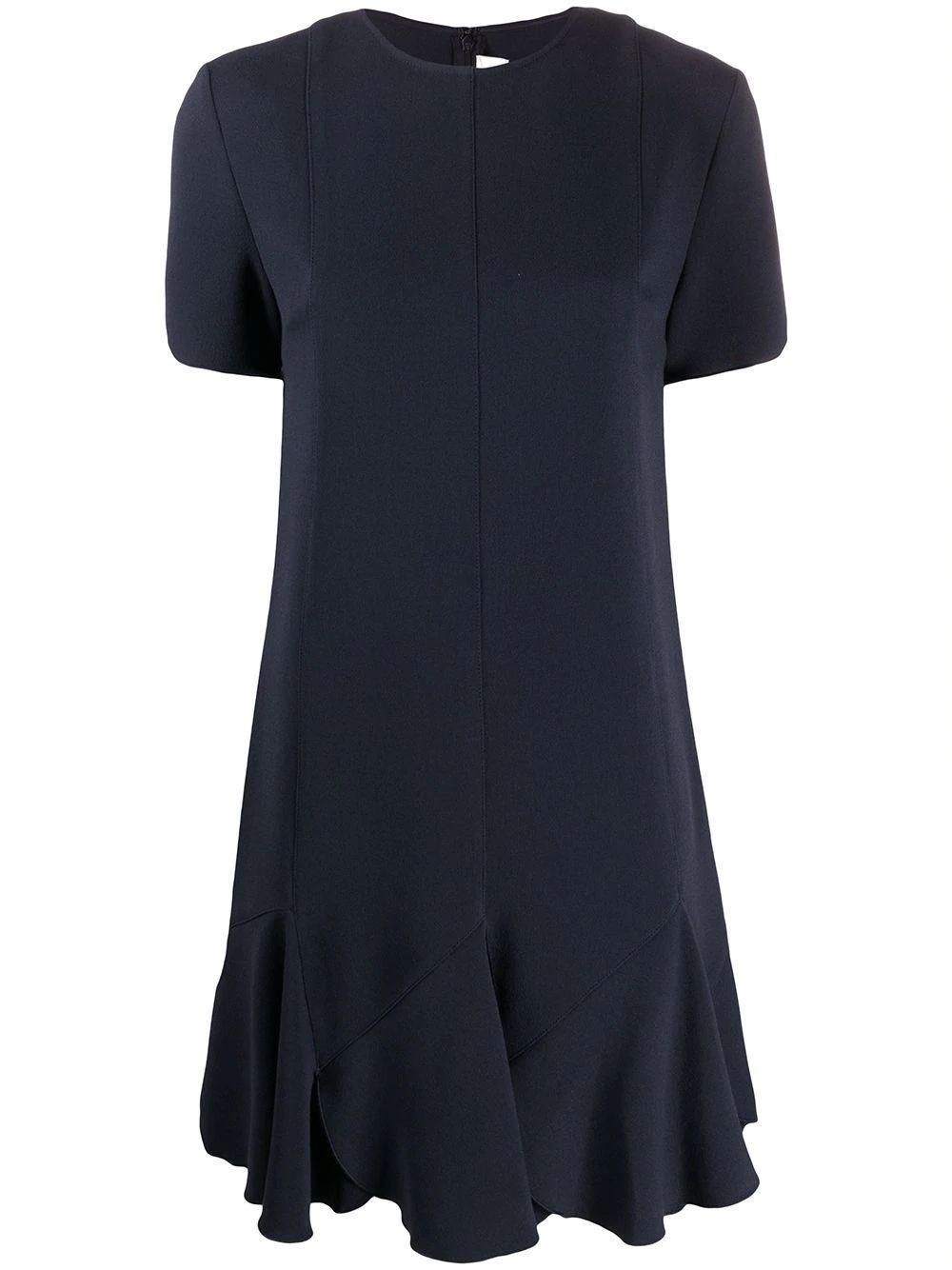Flounce Hem Shift Dress Item # 2220WDR001025B