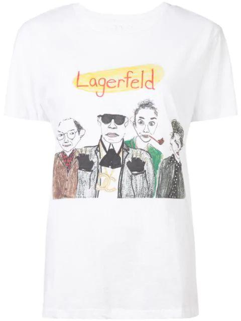 Lagerfeld Graphic Tee Item # UPW-145-S20