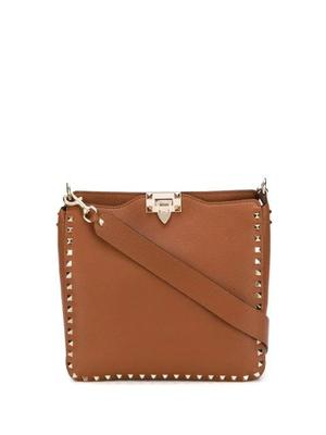 Rockstud Small Hobo With Platinum Studs