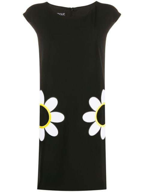 A-Line Dress With Daisy Pockets