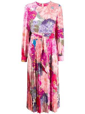 Floral Crepe De Chine Dress