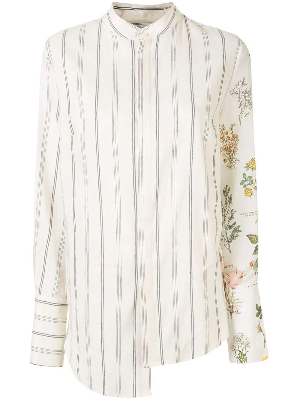 Half Botanical and Stripe Shirt