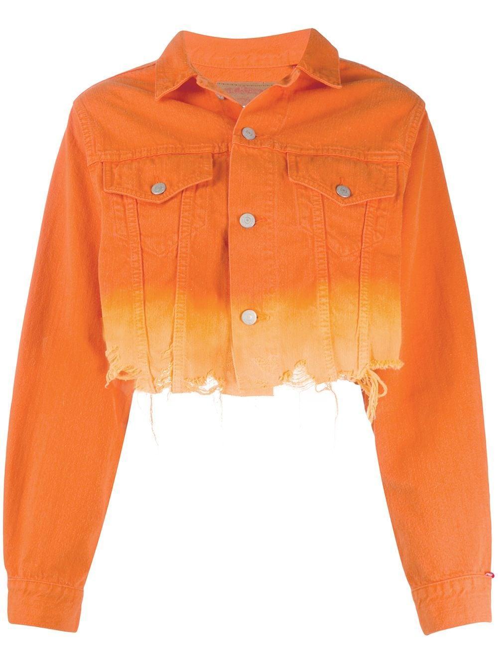 Agnes Cropped Dip Dye Jacket
