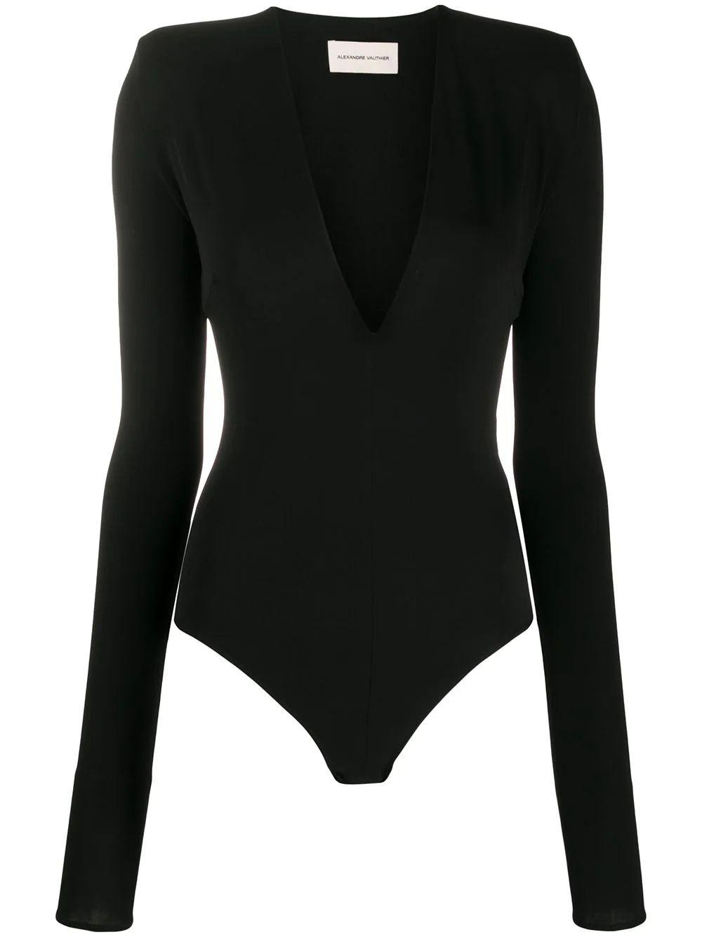V-Neck Jersey Bodysuit