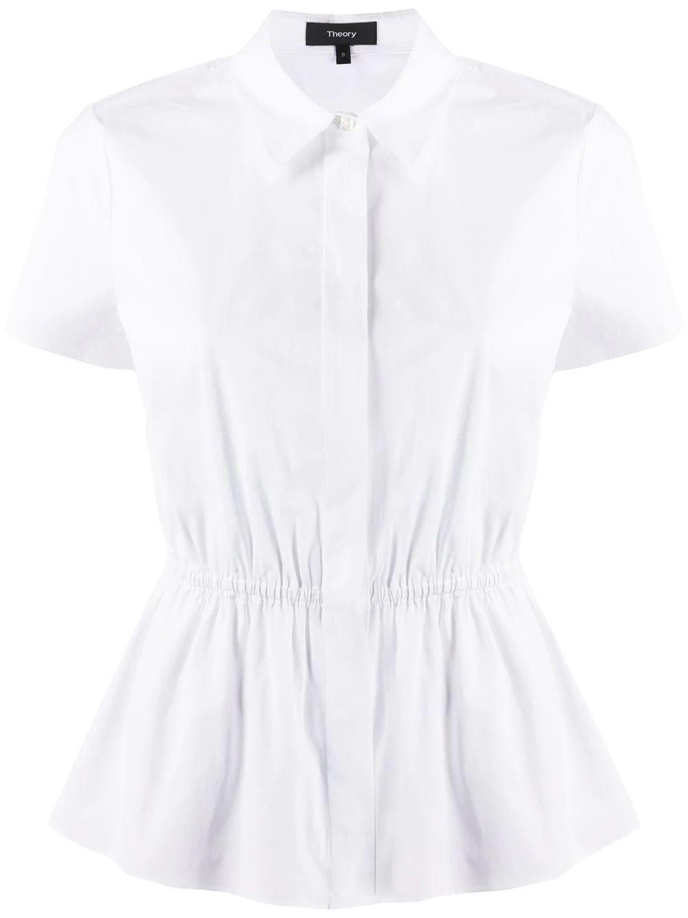 Poplin Cinched Waist Shirt