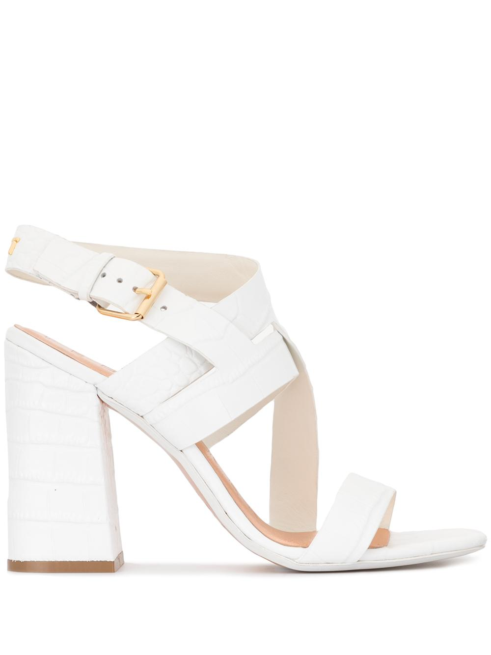 Croc Strappy Block Heel Sandal