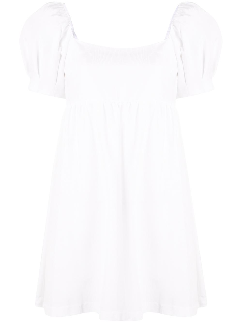 Bauery Puff Sleeve Babydoll Dress