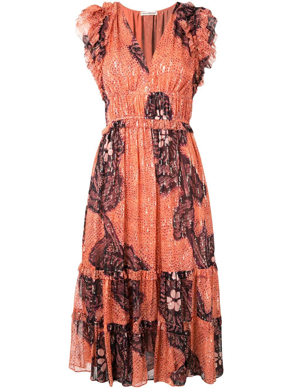 Akira Ruffle Sleeve Dress