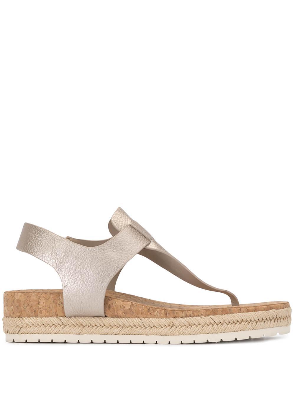 Cork T- Strap Sandal Item # FLINT-2