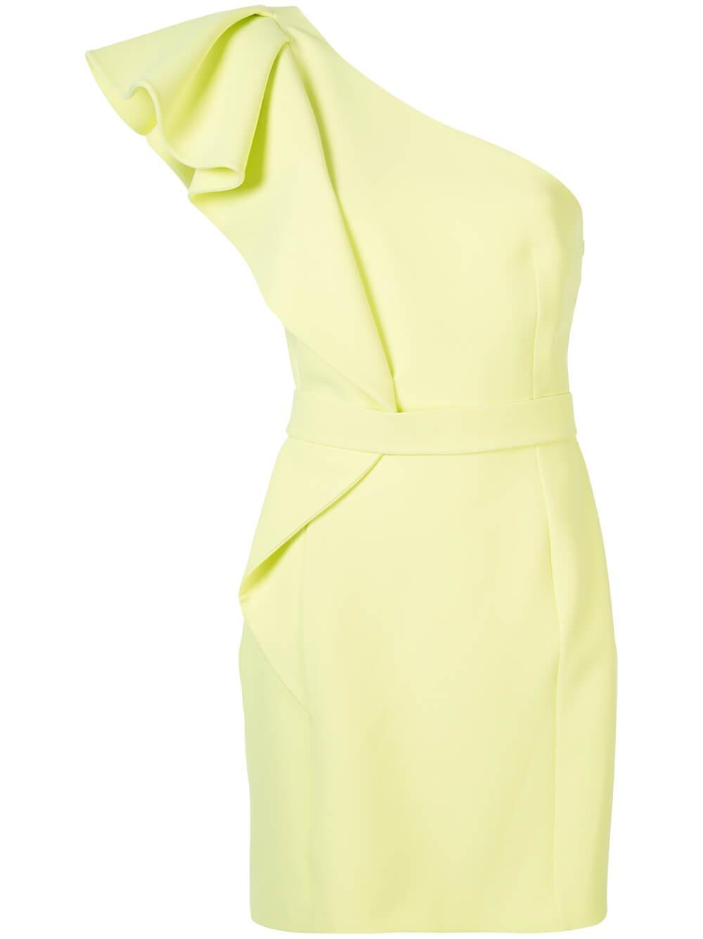 Mirlande Crepe One Shoulder Dress Item # D293-1
