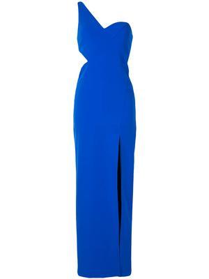 Crepe Cutout Column Gown