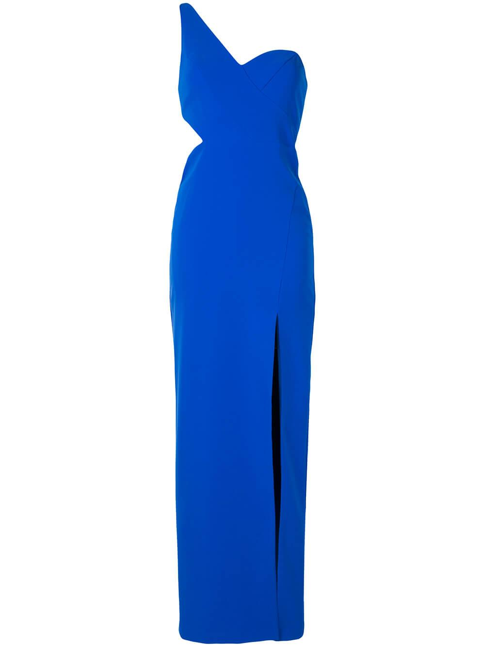 Crepe Cutout Column Gown