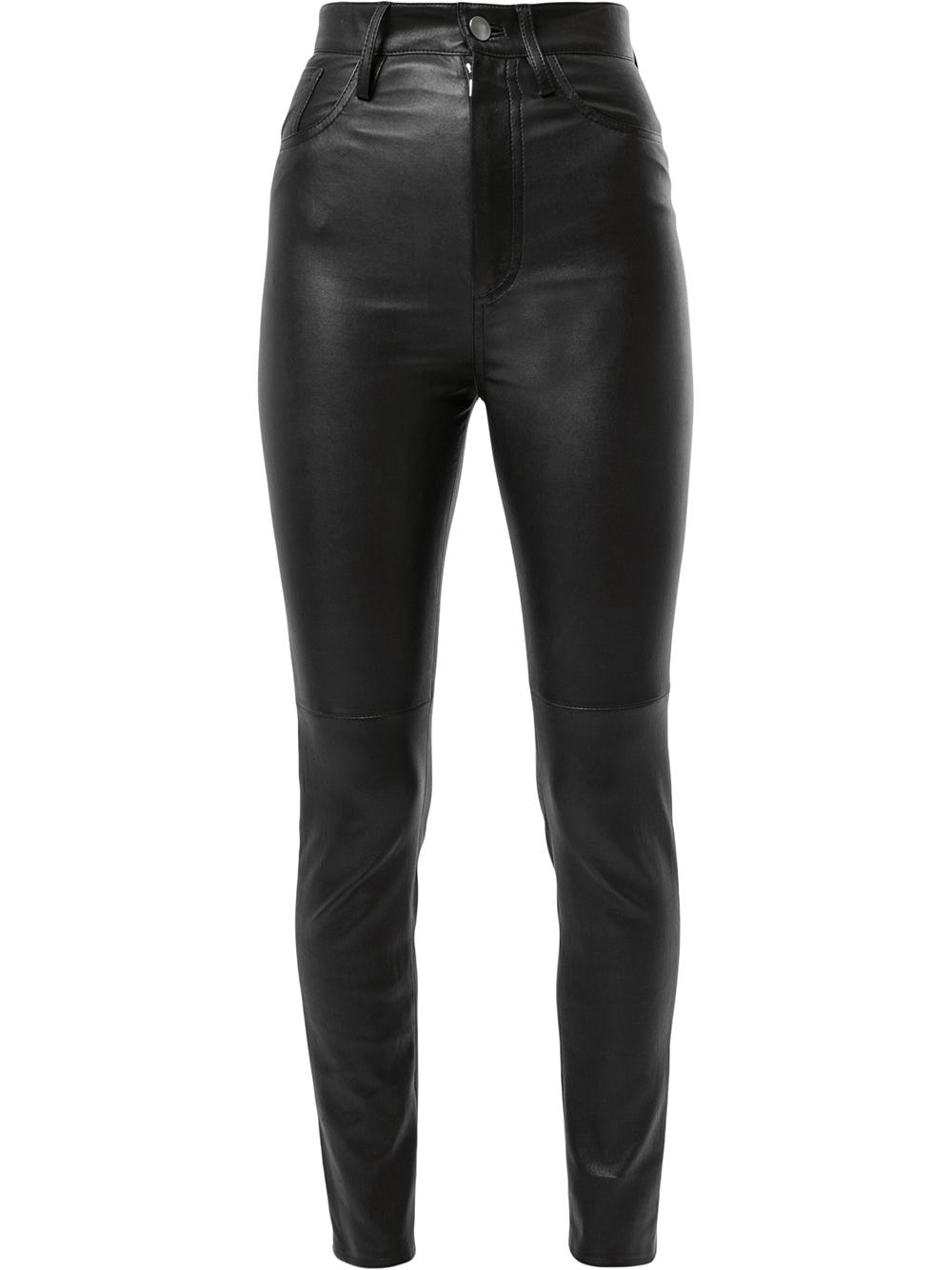 Stretch Leather High Waisted Pant Item # HIGH-PANTS