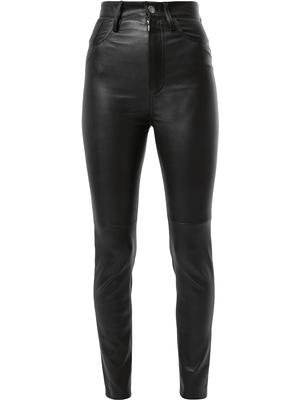 Stretch Leather High Waisted Pant