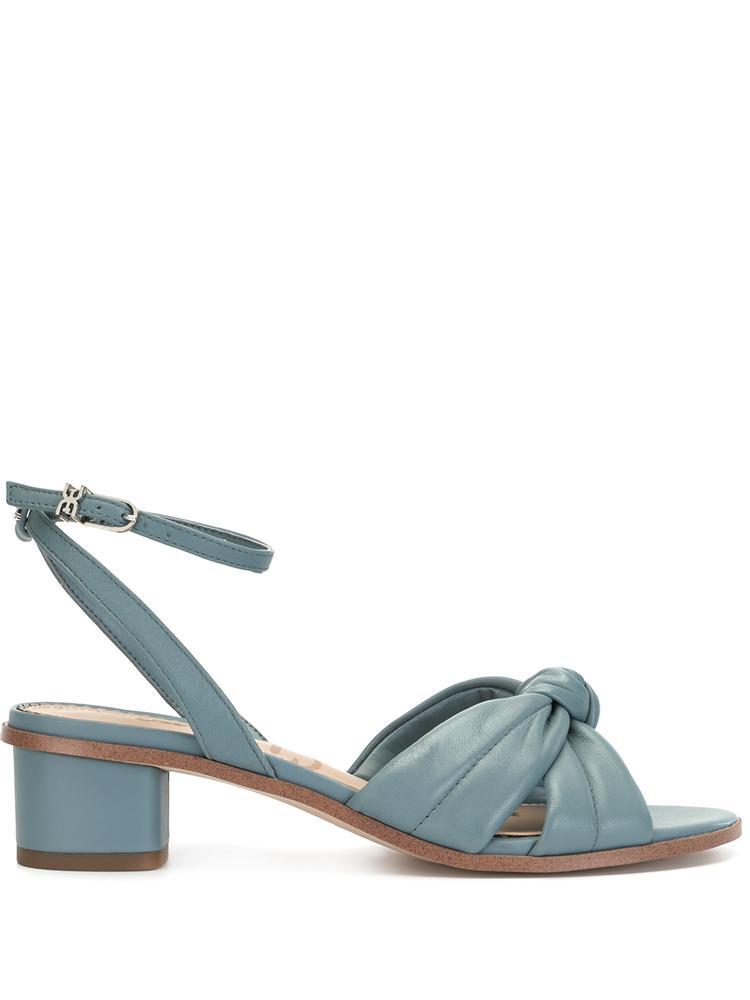 Ingrid Block Heel Knotted Sandal Item # INGRID