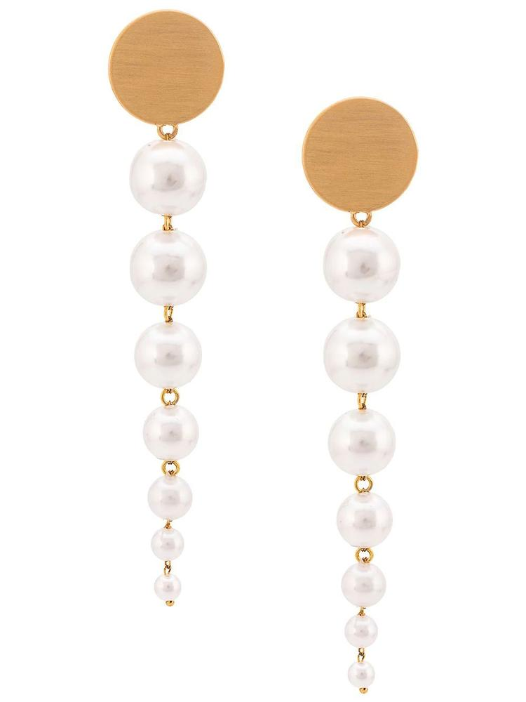 Lucy White Gold Earrings