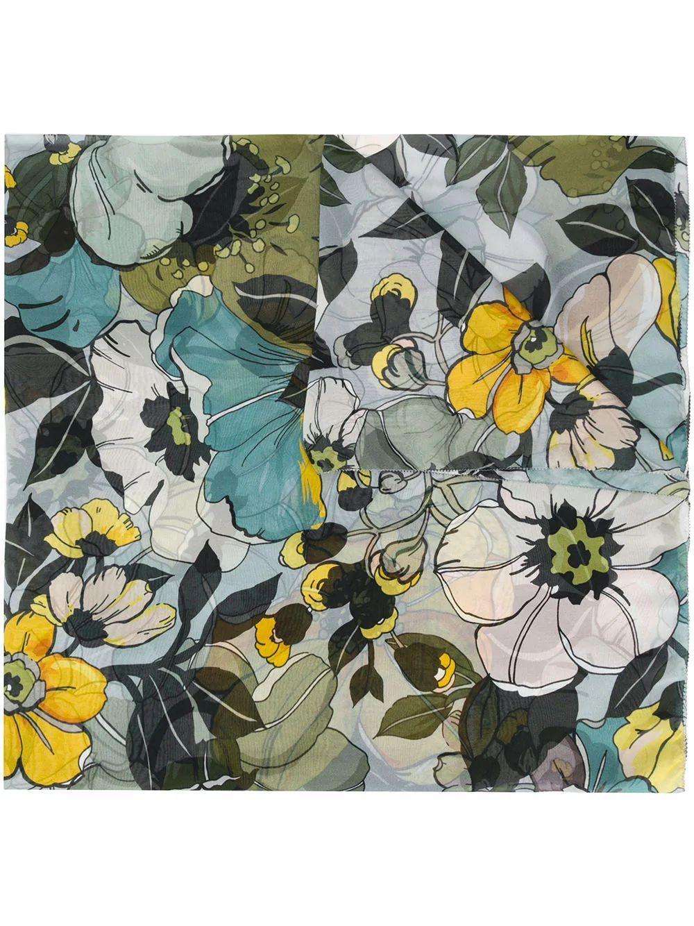 Dafne Floral Scarf Item # E20-2150