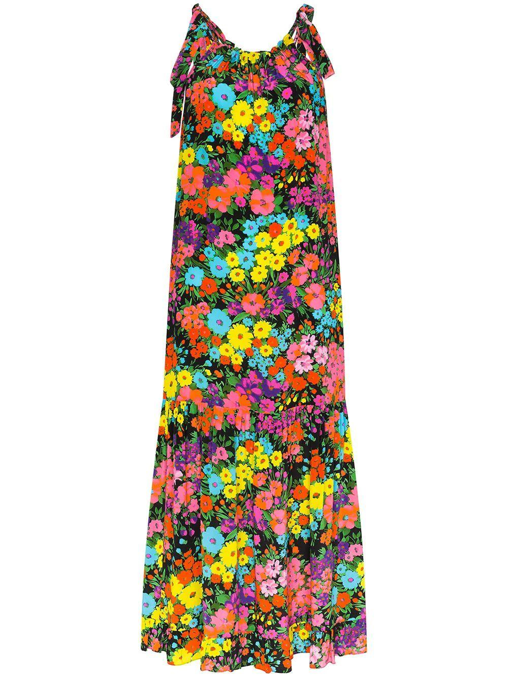 Bow Tie Kaleidiscope Garden Maxi Dress