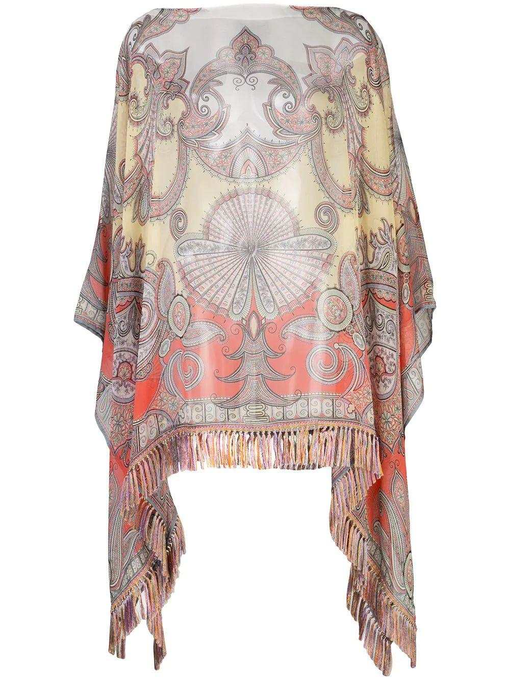 Patched Print Poncho Item # 15804-8920