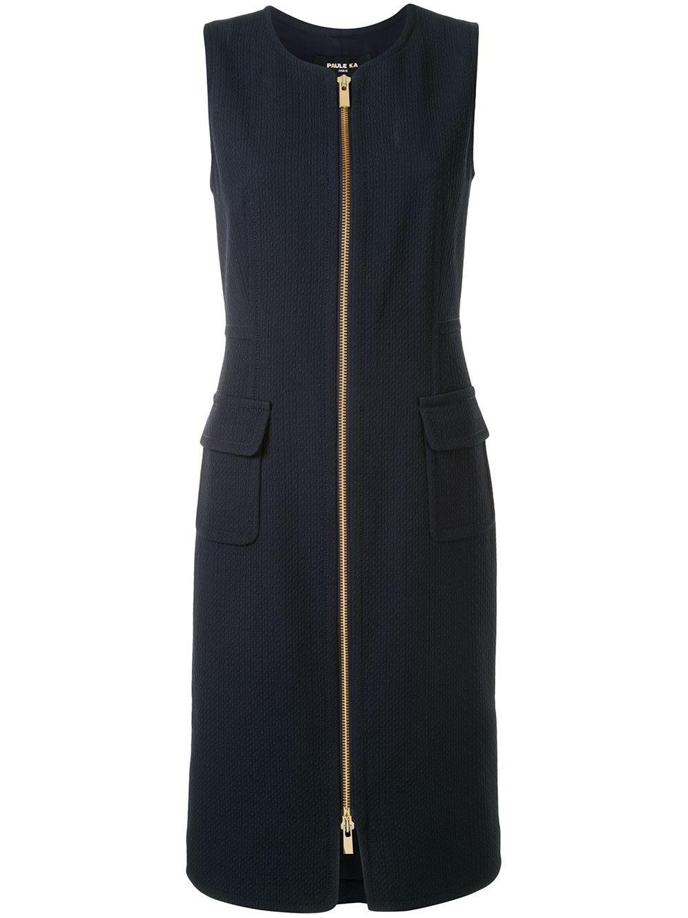 Sleeveless Zip Front Dress
