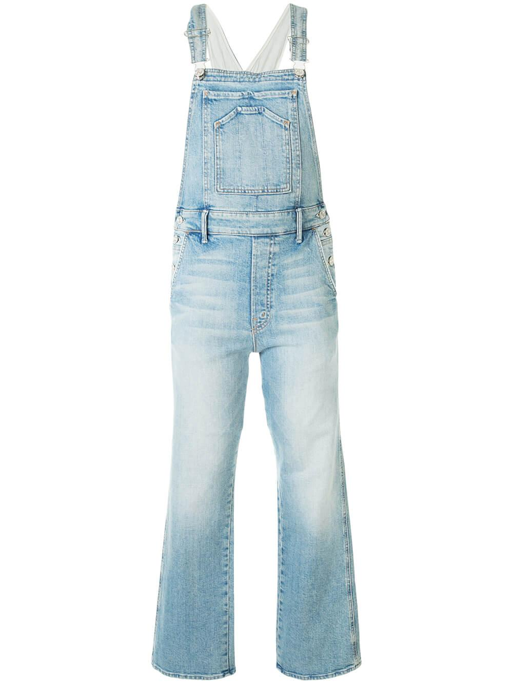 Tripper Overall Denim Ankle Jumpsuit