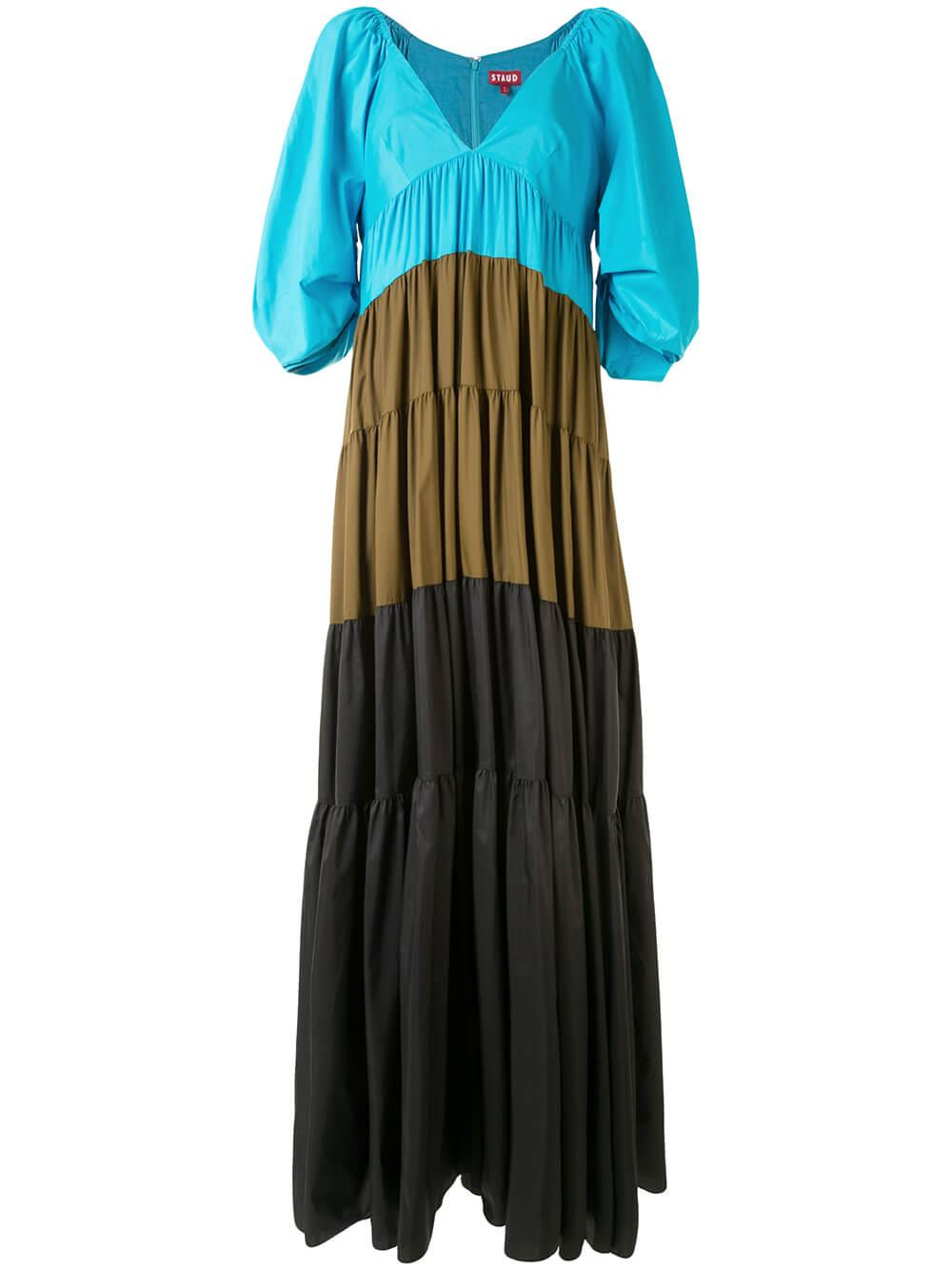 Meadow Tiered Maxi Dress Item # 214-7308-BBCB