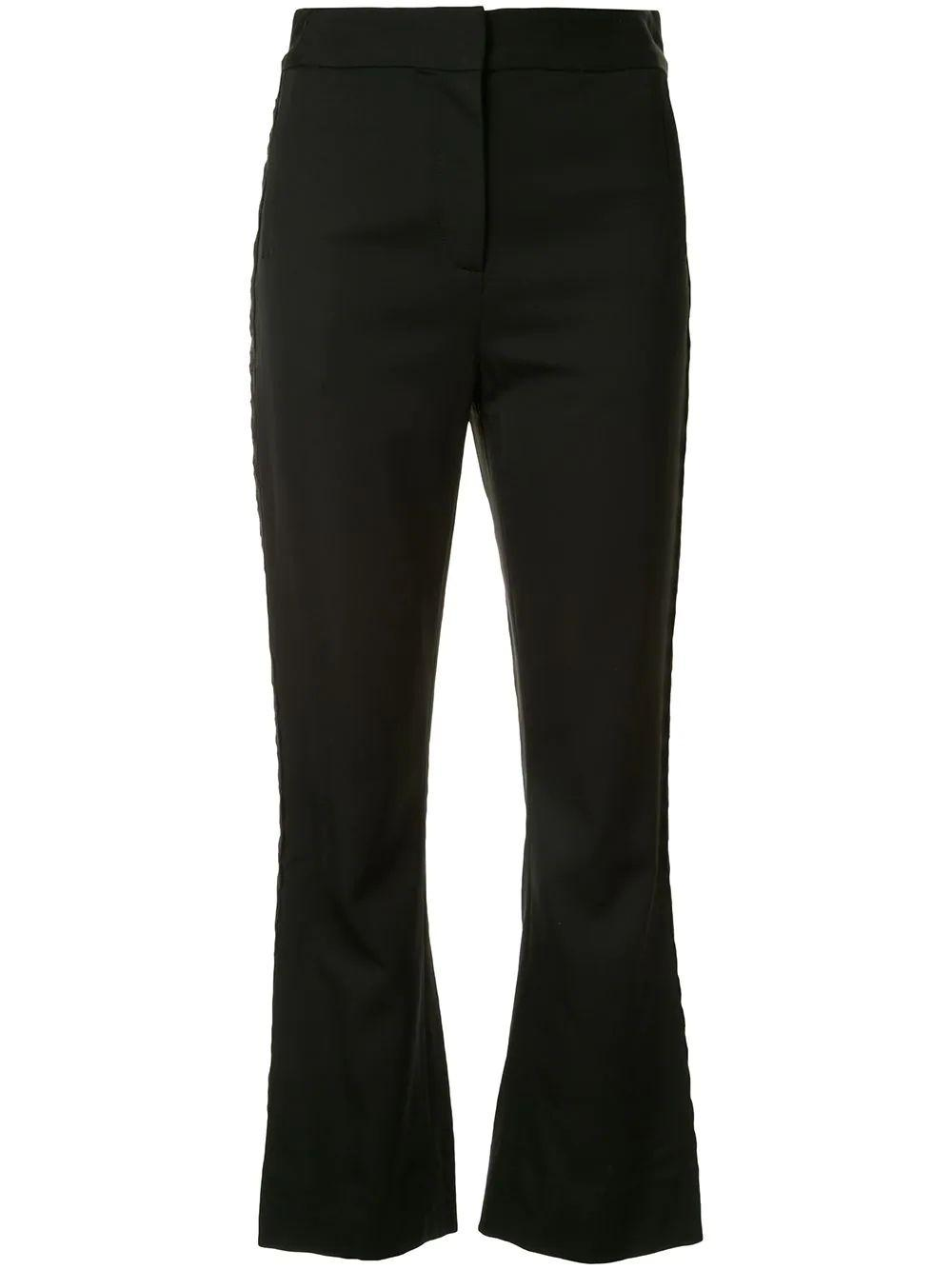 Embroidered Flare Trouser