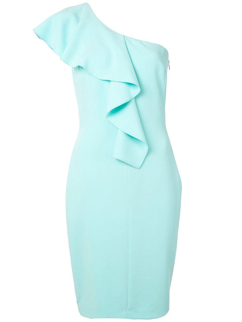 Kallan Ruffle Shoulder Sheath Dress Item # 3592525
