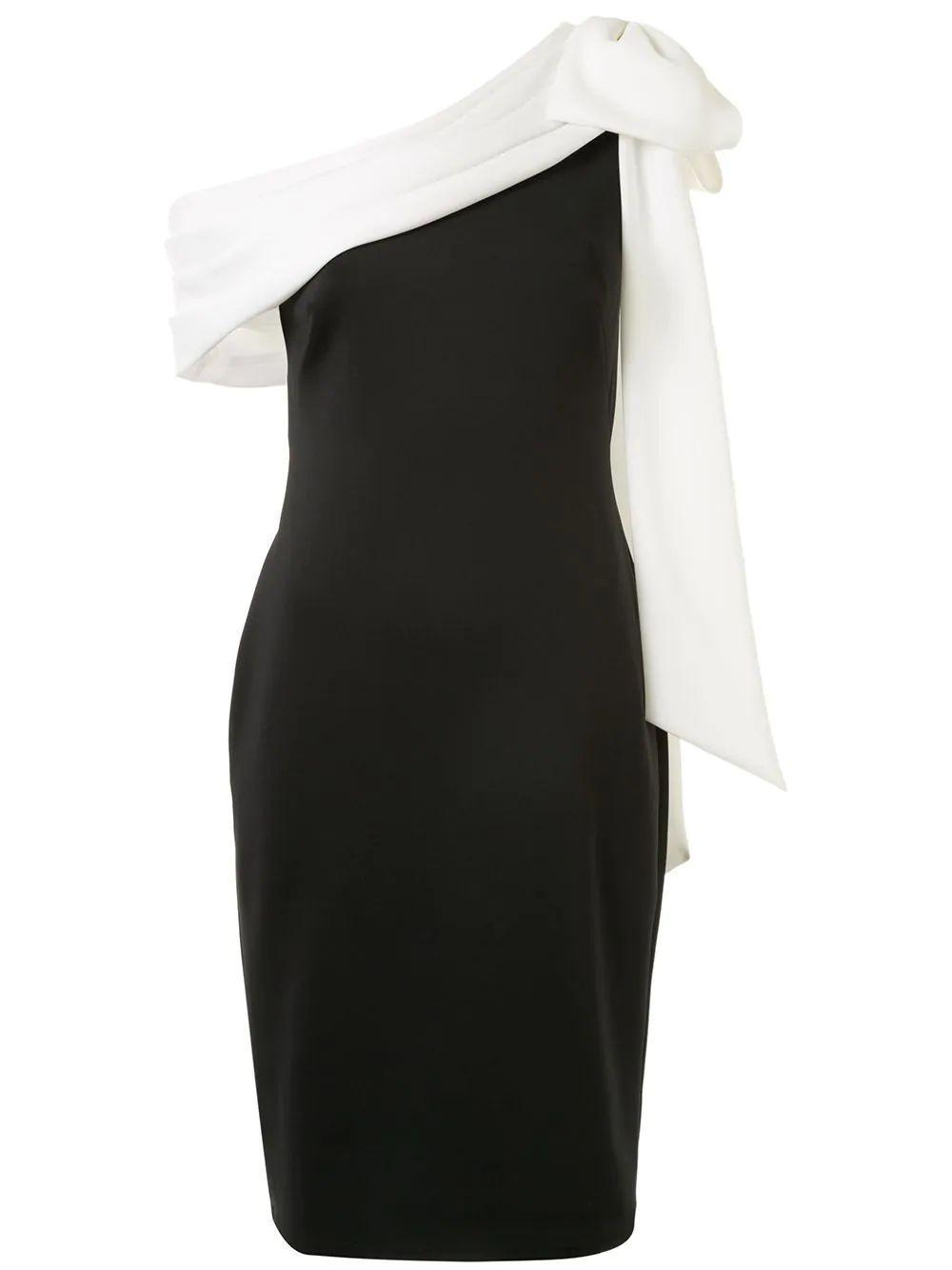 One Shoulder Color Block Dress Item # AGD18371M