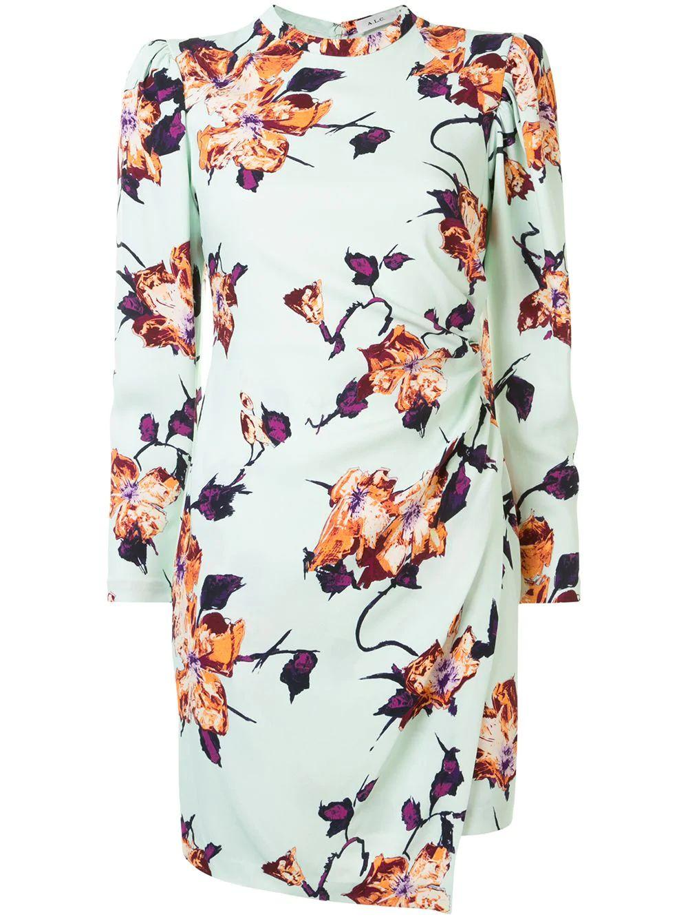 Jane Flower Printed Mini Dress
