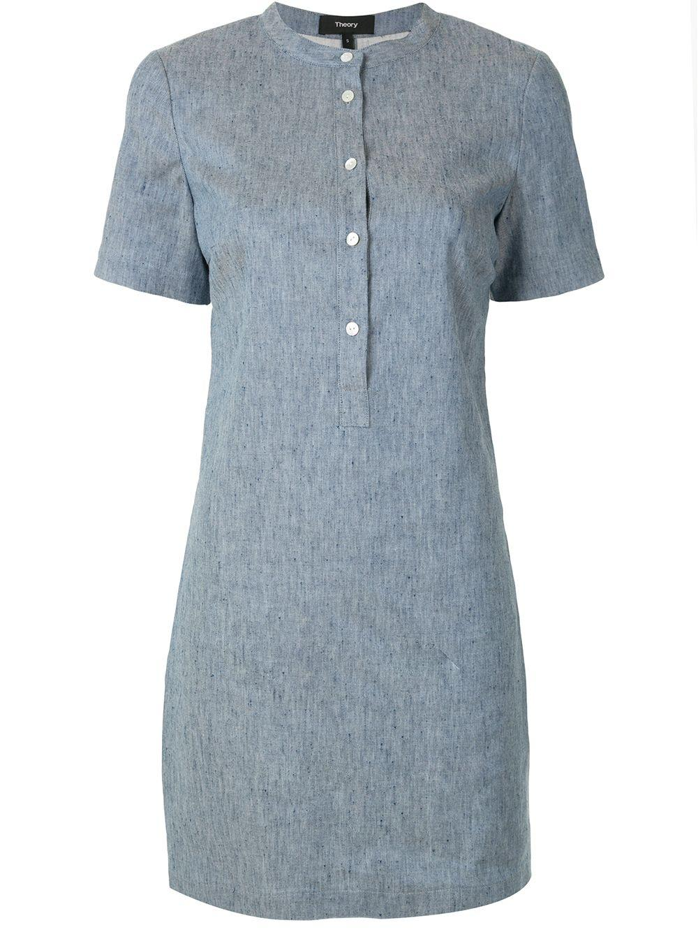 Trapeze Linen Shirt Dress