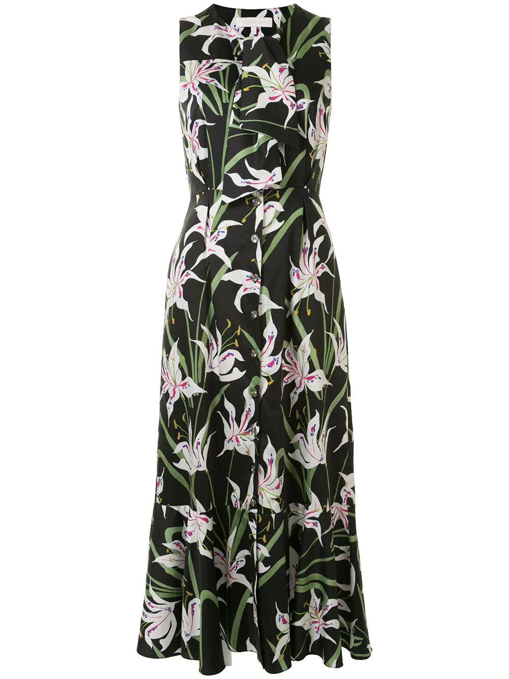 Lilly Print Midi Dress