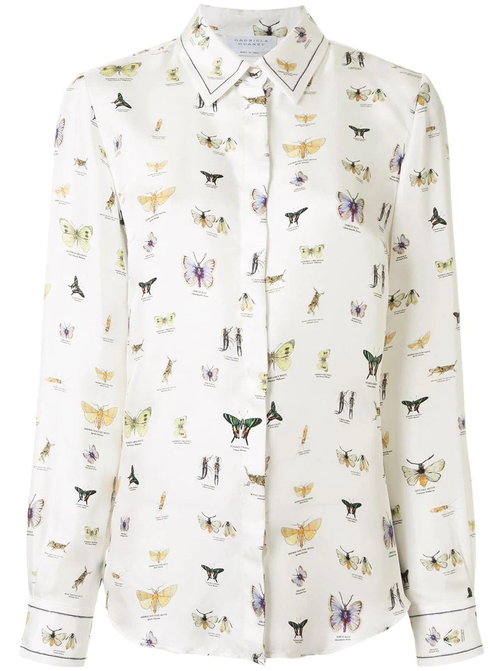 Henri Insect Print Blouse