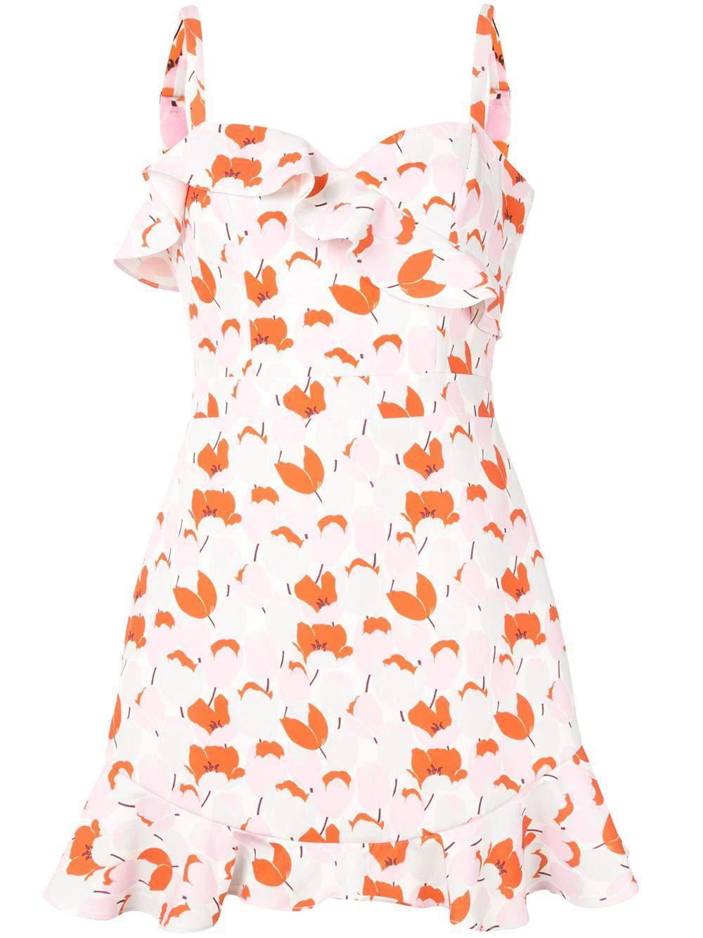 Zalda Ruffle Mini Dress Item # 7652016