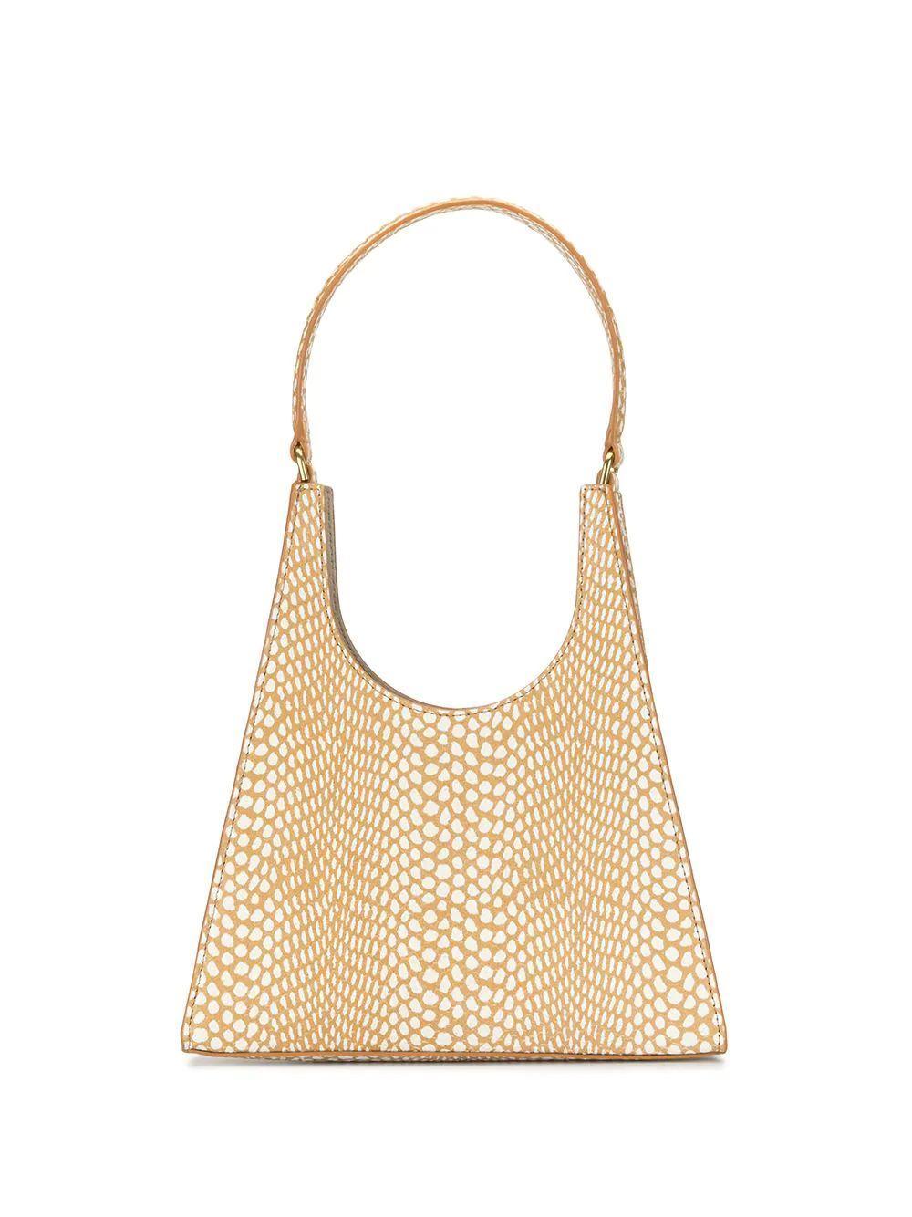 Rey Snake Print Shoulder Bag Item # 219-9125-FAWN