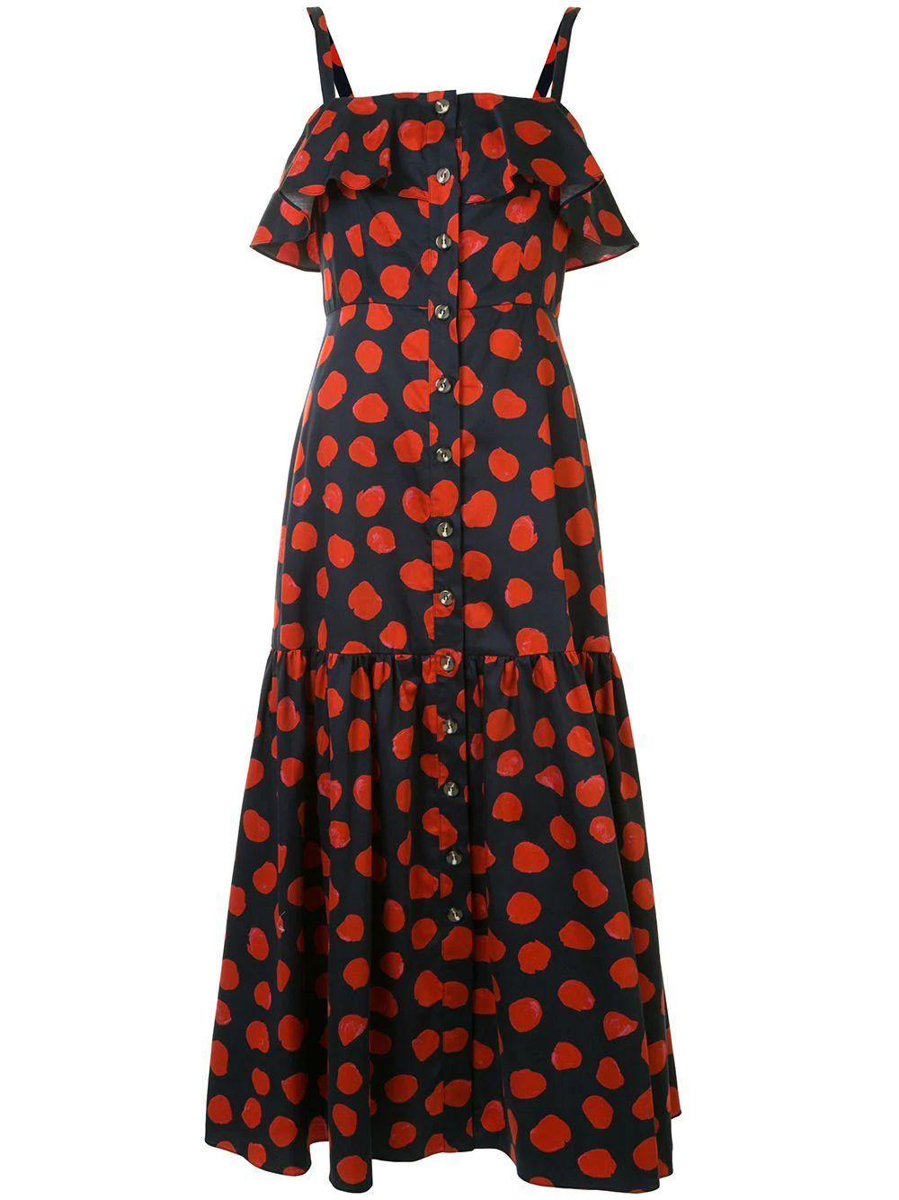 Square Neck Polka Dot Dress