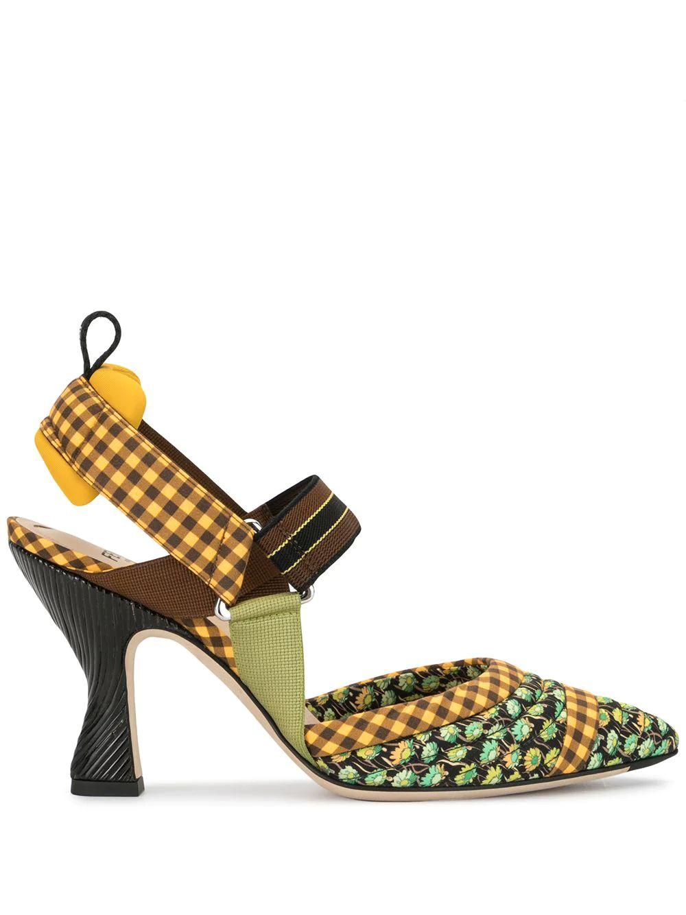 Quilted Pointed Toe Slingback