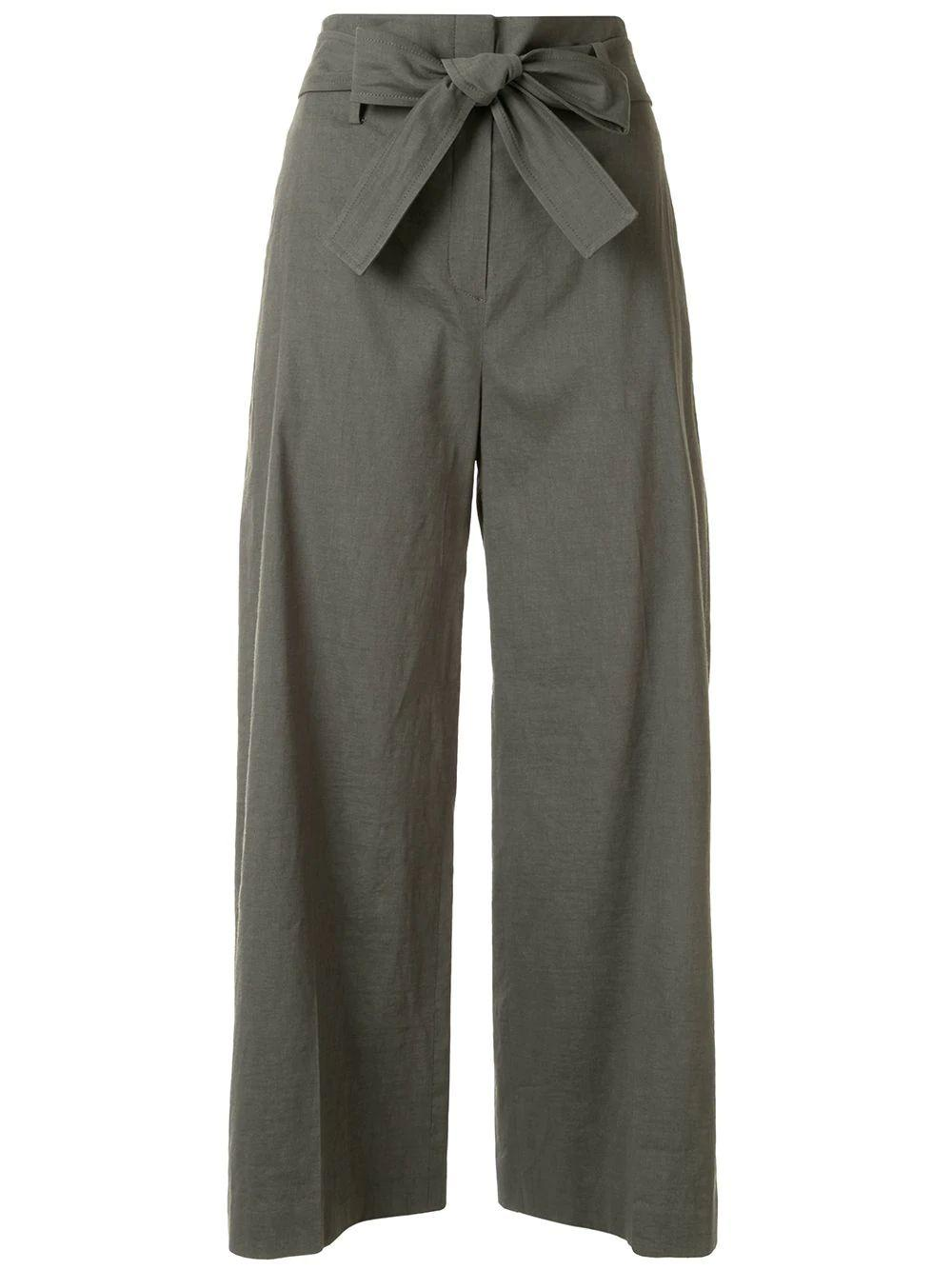 Eco Crunch Linen Cropped Pant