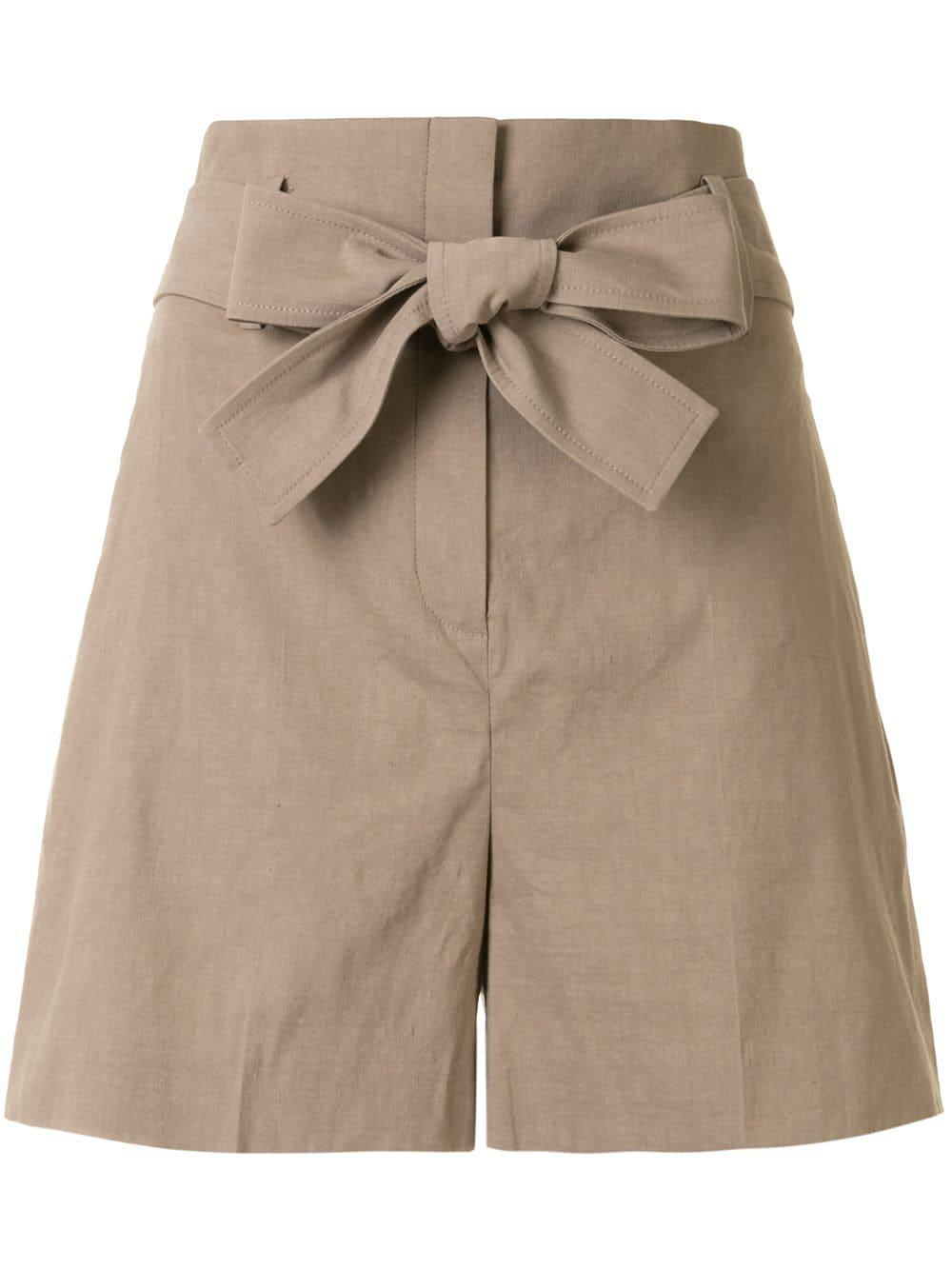 Eco Crunch Belted Linen Short Item # K0203216