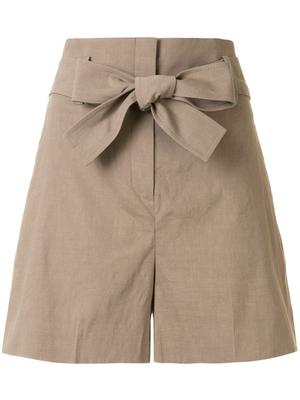 Eco Crunch Belted Linen Short
