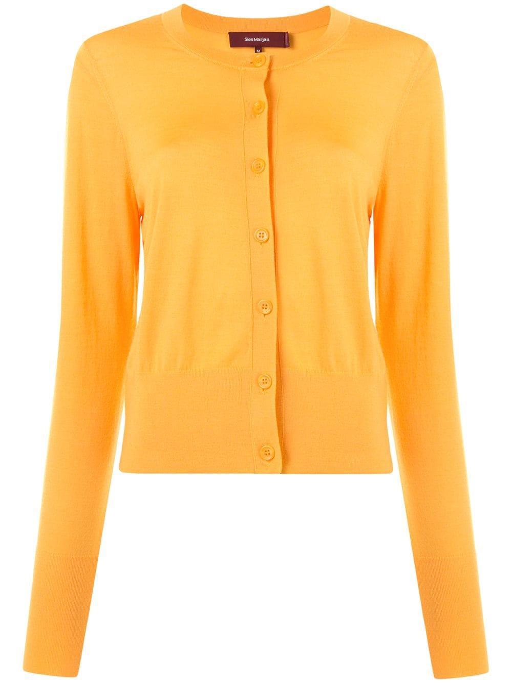 Tahira Superfine Merino Cropped Cardigan Item # 16FE8096-SLOWOOL
